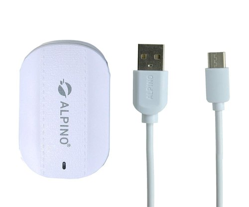 1 M White SC1105 3.1A Alpino Dual Port Wall Charger for Android, For Mobile Charging