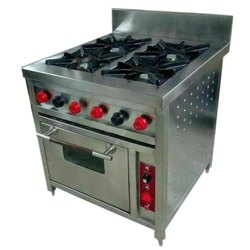 Freezex India Ms, Ss Commercial Four Burner Gas Stove, Number Of Knob: 6