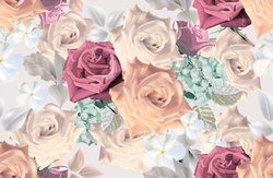 Digital Printed Floral Pattern Muslin Fabrics