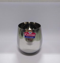 Stainless Steel Round Cerron SS Glass, Packaging Type: Box, Material Grade: SS202