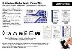 Disinfectant Alcohol Swabs For Sanitizing