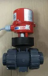Black Motorized PVC Ball Valve, Packaging Type: Corrugated Box