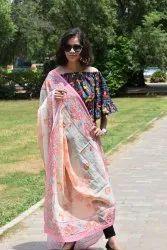 Designer Printed Pure Cotton Dupatta