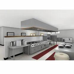 U Shape Stainless Steel Modular Kitchen
