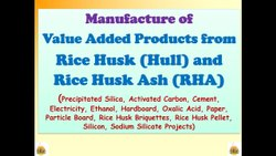 Hard Board from Rice Husk Project Report Consultancy