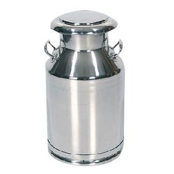 Silver Steel Milk Drum Can