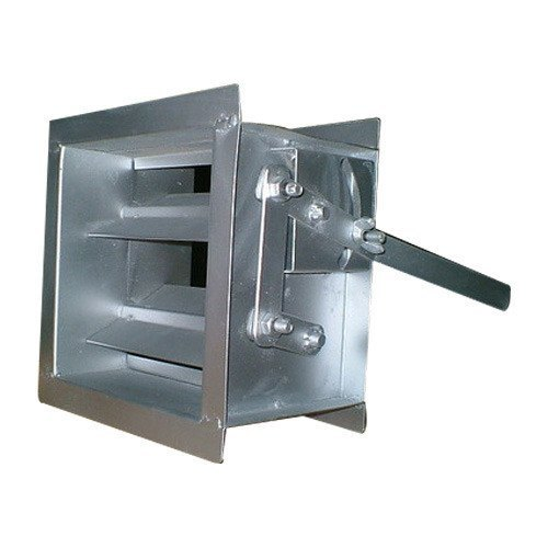 Vent Aluminum Duct Damper, for Air, Shape: Rounded