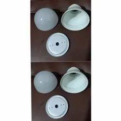 White LED Bulb Aluminium Housing, Size/Dimension: 65 Mm