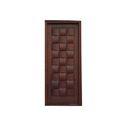 Exterior Hinged Brown Wooden Door
