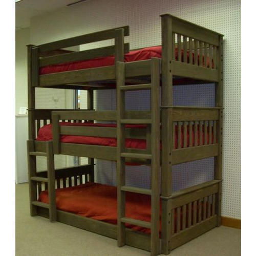 Brown Triple Bunk Wooden Bed Rs 25000 Piece Sketch Villa Id