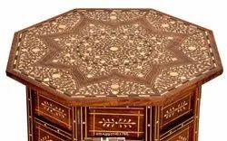 Wood Brown Inlaid Coffee Table
