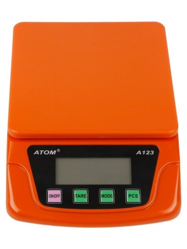Atom A 123 Kitchen Digital Weighing Scale Balance 6kgx1g Capacity
