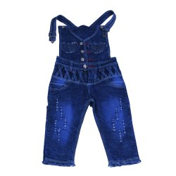 Blue Kids Denim Dungarees