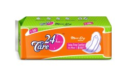 sanitary pad white 24care