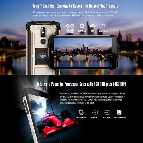 HOMTOM ZOJI Z11 Rugged Phone, 4GB 64GB, 5 99 inch Rugged Smartphone,  10000mAh, 4G, OTG, Dual SIM
