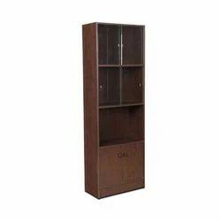 Brown Bookshelf Corner Unit