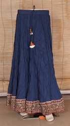 Bagru Ladies Cotton Long Skirts