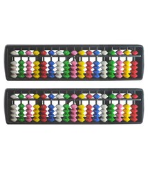 17 Rod Plastic Coloured  Student Abacus