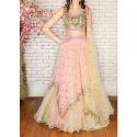 Stitched Wedding Wear Ladies Designer Net And Satin Lehenga