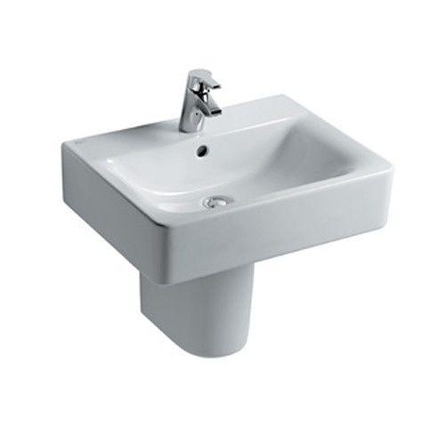 Plain White Short Pedestal Basin