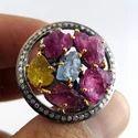 Tourmaline Silver Diamond Jewellery