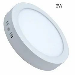Cool White 6W LED Round Surface Panel Light