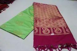 Semi Soft silk Green