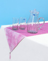 Dark Blue Polka Dot Tie Dye Cotton Table Covers
