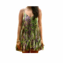 Ladies Cotton Sleeveless Green Color Party Wear Top