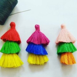 Tiered cotton Tassels