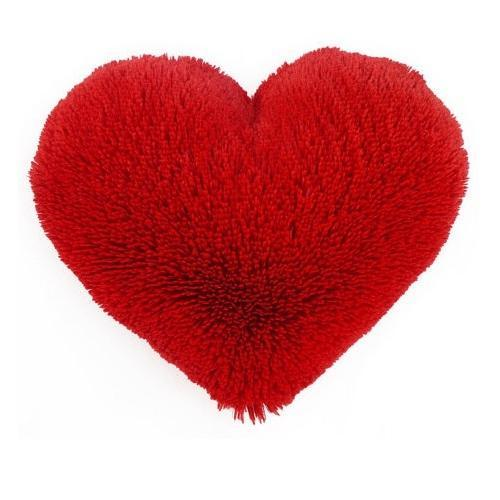 Red Plain Heart Shape Pillow Rs 450 Piece Happy Bean