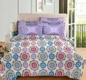 Cotton Digital Floral Printed Double Bedsheet