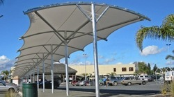 Tensile Walkway Covering Structure