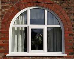 Arch Fixed Window With Single Open