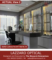 Showroom Designing Lazzaro Opticals