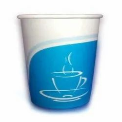 Blue Disposable Printed Paper Cup, For Event and Party Supplies, Capacity: 150 Ml