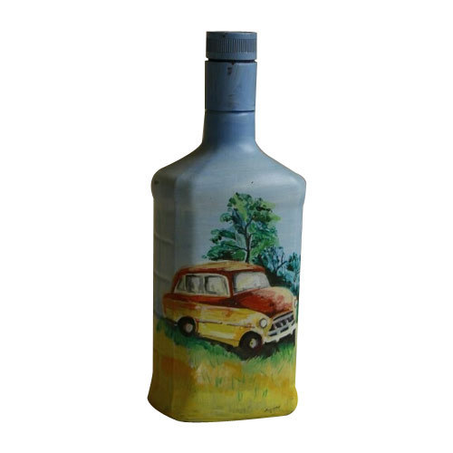 bottle art painting  Glass Bottle Art Painting, Size: Wine Bottle Size 750 Ml, Rs 500 ...
