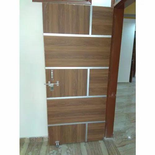 Hinged 7x3 Feet Laminated Wooden Door