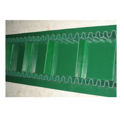 Ultrasonically Welded PVC Green Cleated Conveyor Belt