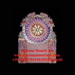 Traditional Indoor Marble Bhavmandal, For Temple & Home, Size: 17 Inch To 121 Inch