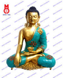 Lord Buddha Sitting Sakyamuni W/Out Base W/Stones & Wire Bead