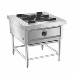 Ss Single Burner Range, 1, for Commercial Kitchen