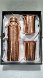 Copper Designer Bottle and Glass Gift Set