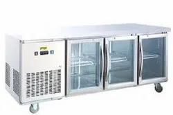 Prego 3 Door Under Counter Chiller - Glass Door