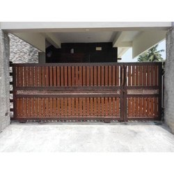 Latest Wood Pattern Steel Gate