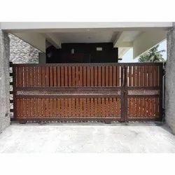 Latest Wood Pattern Steel Gate
