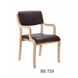 Leatherette Wood Cafe Chair