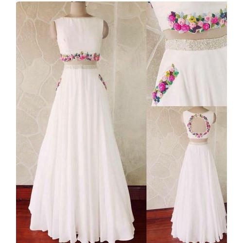 Ladies Silk White Lehenga, Size: S-L, Rs 4000 /piece, K. R