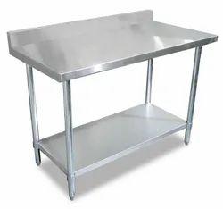 Metalic Krishna Work Table Back Plus