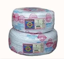 Uttam Plastic White Polypropylene Rope For Industrial, Diameter: 1-10 Mm
